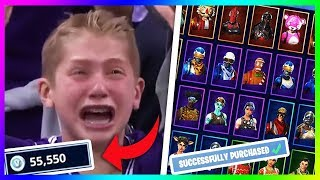 kid spends all of his parents money on v-bucks.. (fortnite)