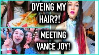 dyeing my hair pink and meeting vance joy vlog jessiepaege