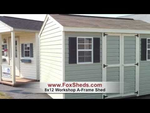 In Stock A Frame Shed 8x12 Foxs Country Sheds Youtube