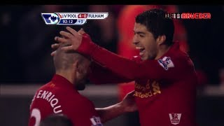 Liverpool FC V Fulham FC 4-0, Premier League, 18th Matchweek, 22/12/12 Review