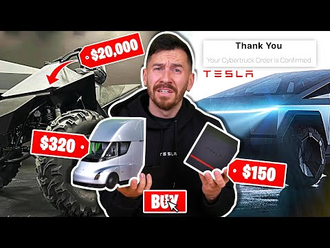 I Bought Everything On The Tesla Website!! (Including The Tesla CyberTruck)