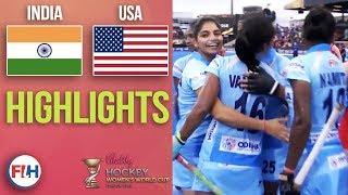 India v USA | 2018 Women's World Cup | HIGHLIGHTS