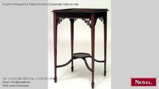 English Antique End Table Chinese Chippendale Tables For