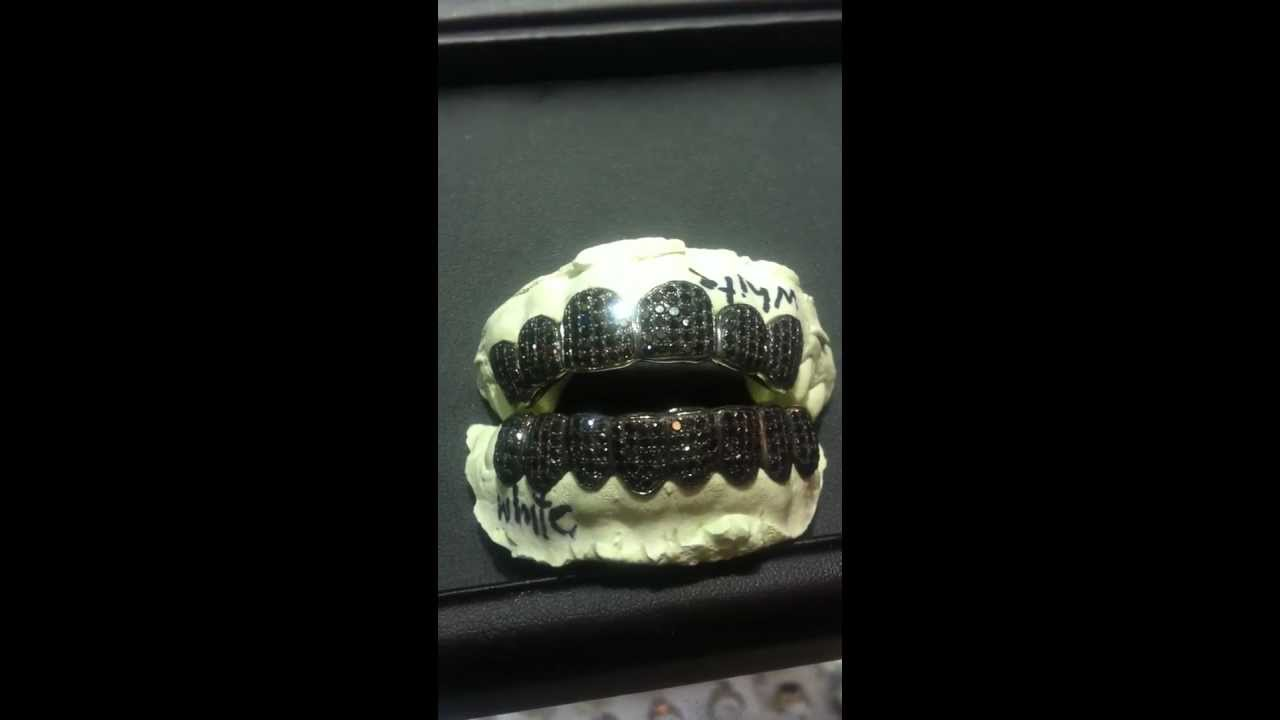 Black Diamonds On Black Gold Gold And Ice Grill Youtube