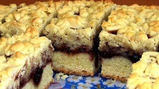 видео песочный пирог с вареньем