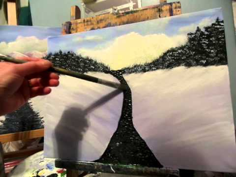 How to paint river rocks  underwater Acrylic painting lesson 5