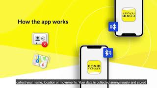 COVID Tracker App - how the app works