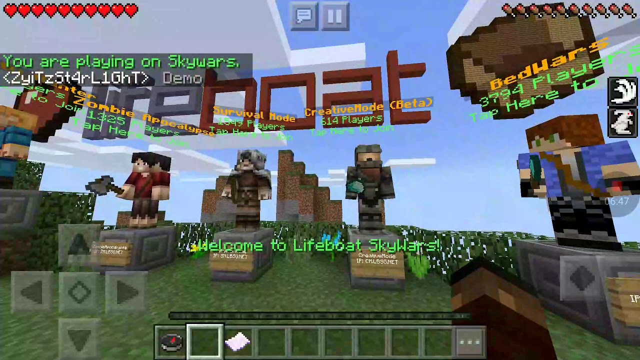 Minecraft (server Saturday) [lifeboat survival mode ]( my house)
