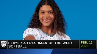 After notching a hit in all six games over her first collegiate weekend of play, ucla freshman maya brady earns pac-12 softball and player the we...