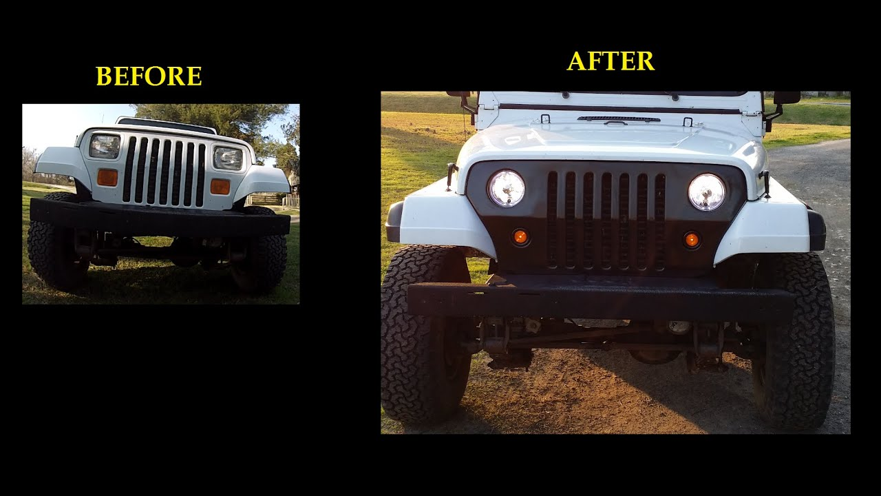 Installing Jeep Wrangler Yj Conversion Kit Square To Round Circle