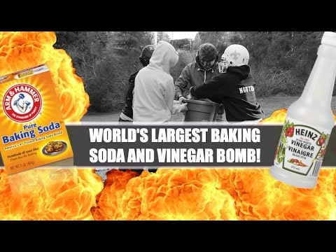WORLD'S LARGEST BAKING SODA AND VINEGAR BOMB! (CHALLENGE)