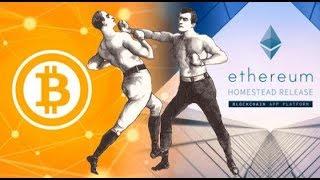 Etherium VS Bitcoin, закат майнинга.