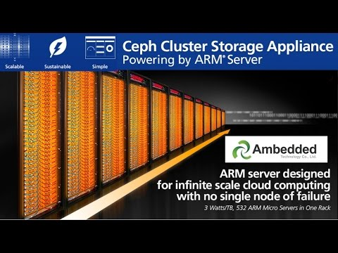 Ceph Cluster Storage Appliance ARM Micro Server by Ambedded