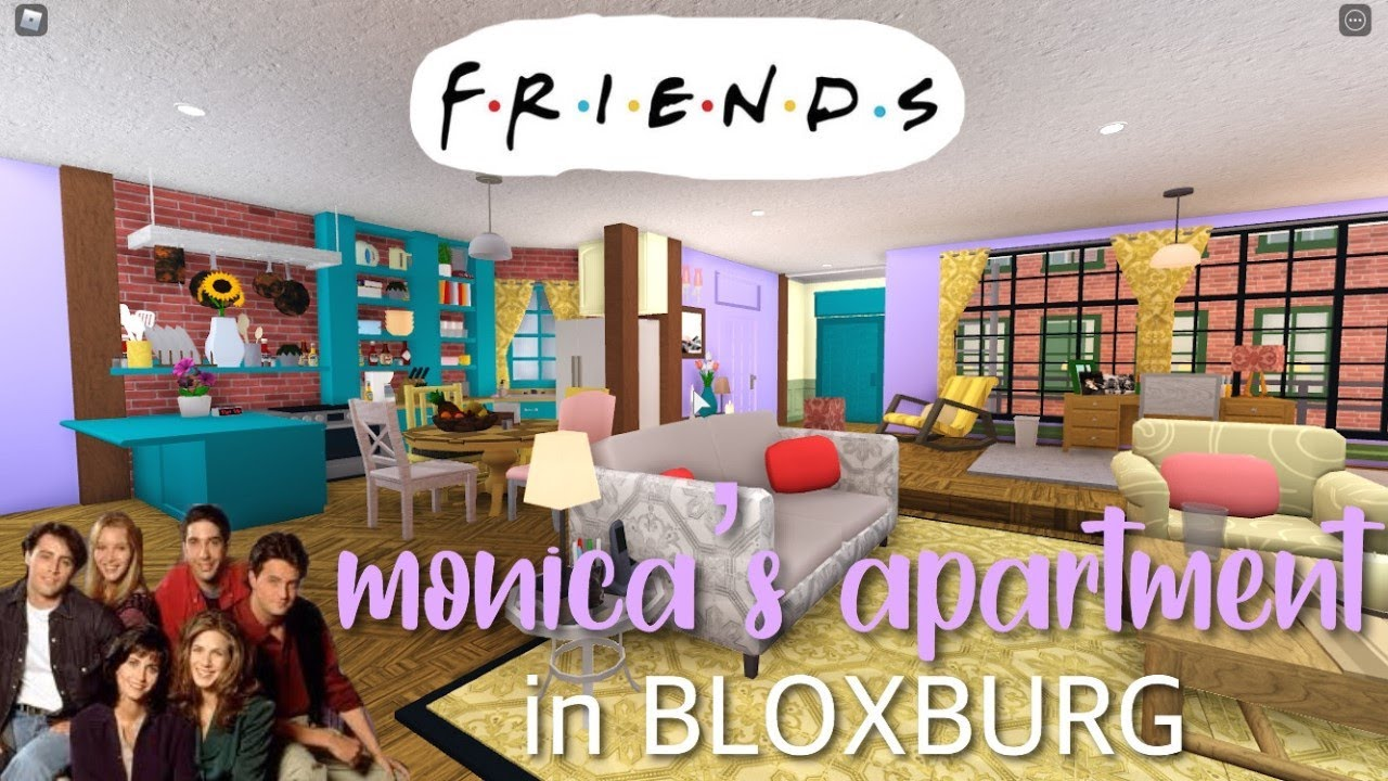 Download BLOXBURG| Monica's Apartment From FRIENDS Tour | Speed Build