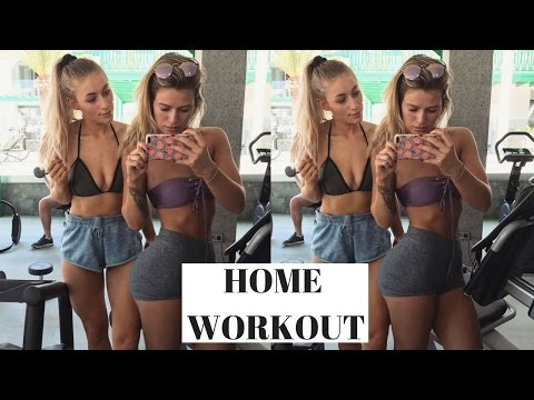 AT HOME WORKOUT | With sweat proof makeup!