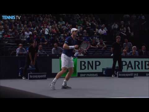 Murray Threads Forehand Hot Shot Pass In Paris 2016