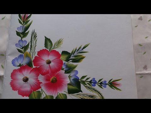 One stroke painting for beginners.One stroke painting techniques.