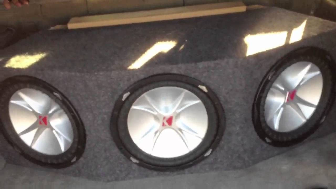 3 12inch Cvr Subwoofers In A Ported Box Youtube Kicker 12 Wiring