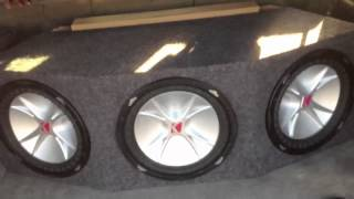 3 12inch cvr subwoofers in a ported box