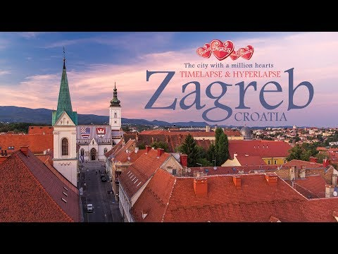 Zagreb - The city with a million hearts. Timelapse & Hyperla