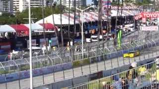 Corvette C7R sound - Long Beach Circuit (Use headphones)