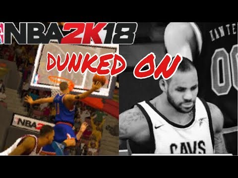 NBA 2K18 IOS/ANDROID My Career- LeKing and the Cavs CHOKING! CRAZY Poster and Ankle Breaker!