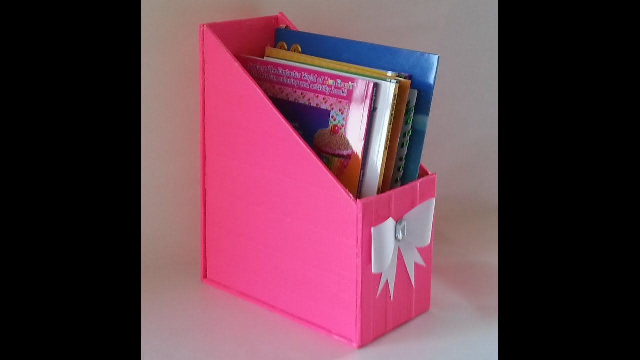 Cardboard Magazine Holder DIY} Magazine Holder YouTube 10