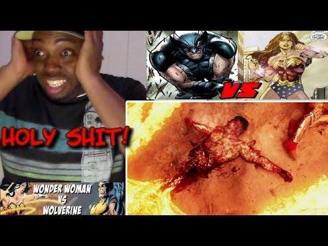 WONDER WOMAN vs WOLVERINE - ALTERNATE ENDING - Super Power Beat Down REACTION!!!