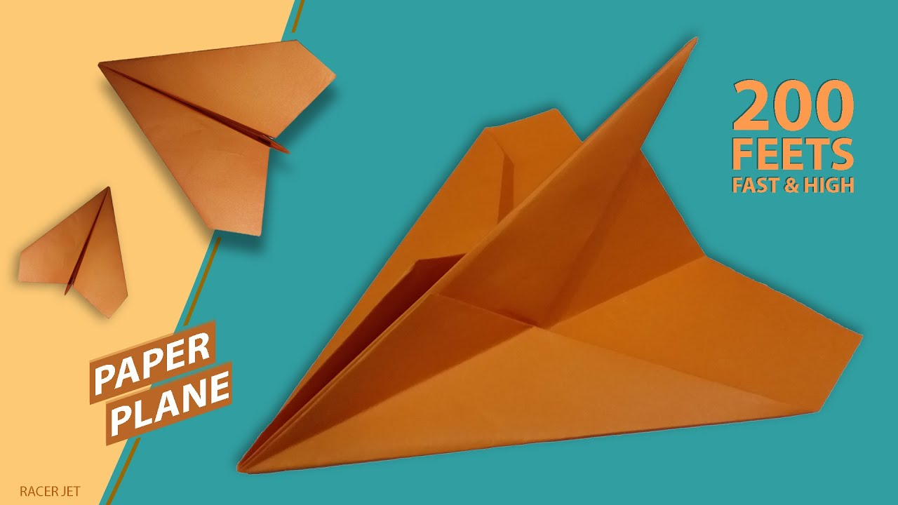 Paper Plane That Flies So Far - How To Make/Fold Paper Airplane Easy & Fast   Paper Jet