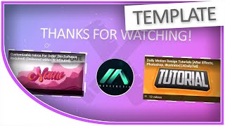🔴 [OUTRO] Professional 2D YouTube Endscreen Template (After Effects & Photoshop-Free » No Software)