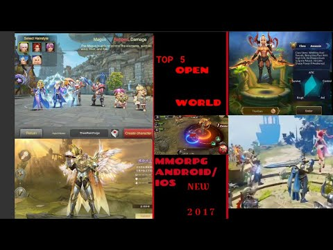 TOP 5 OPEN WORLD MMORPG ANDROID/ IOS ENGLISH VERSION NEW 2017