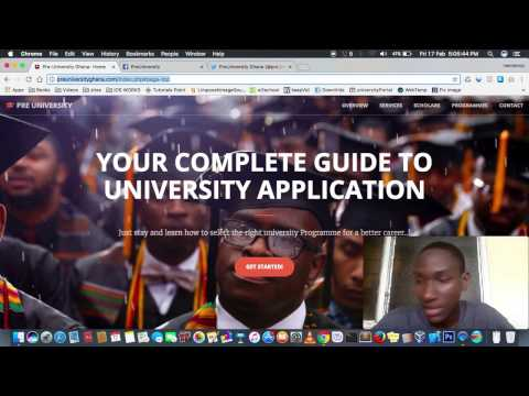 How to fill a university Application form