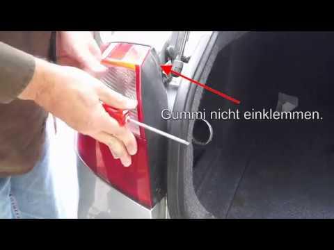 Audi A4 B6 Rücklicht ausbauen  Bremslicht Rücklicht wechseln