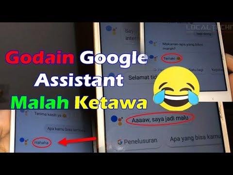 Lucunya Google Assistant 2019 Bisa Tertawa | Bernyanyi dan Kocak Kalau Diajak Curhat