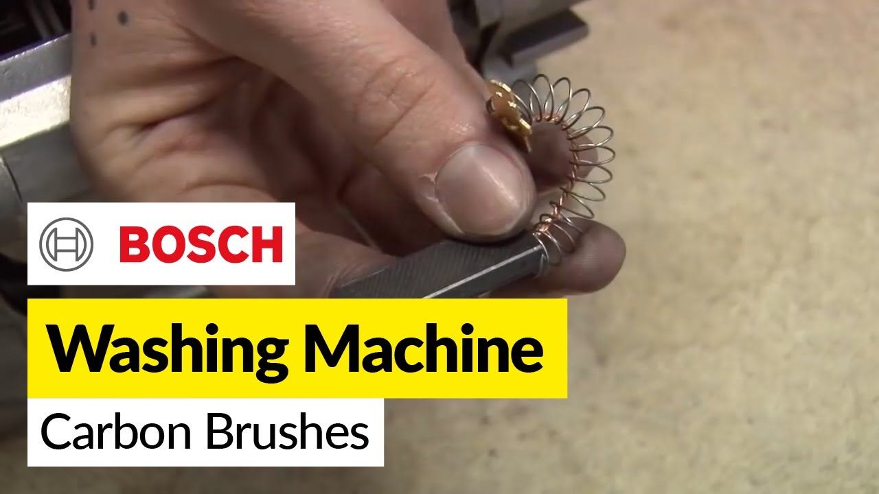 how to replace washing machine carbon brushes on a bosch washer youtube [ 1280 x 720 Pixel ]