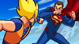 Dragon Ball Z vs DC Superheroes - What If Battle - DBZ Parody