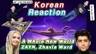 🔥(ENG) KOREAN Rappers react to ZAYN, Zhavia Ward - A Whole New World💧💧