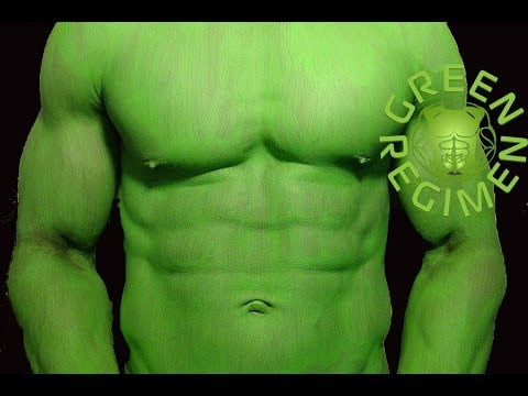 BEST Muscle Building Shake - The Incredible Hulk Green Smoothie - Green Regimen - YouTube