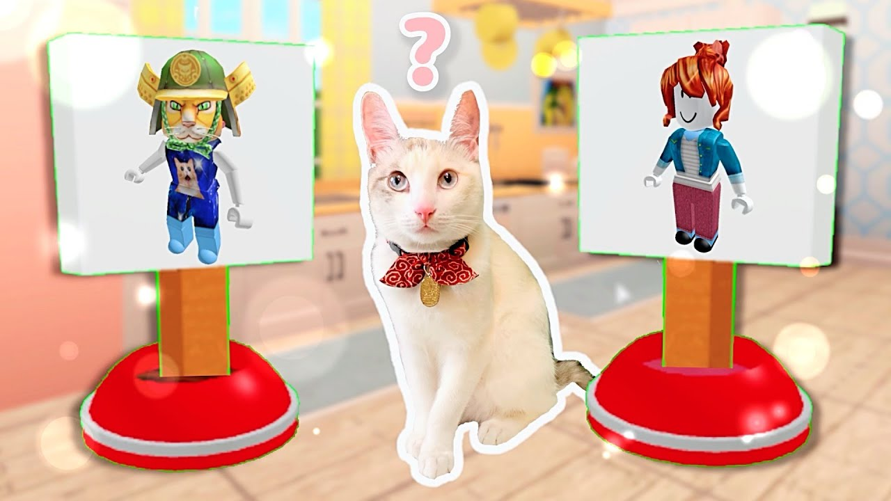 Download LETTING OUR CAT CHOOSE HER ROBLOX CHARACTER *making our cat a roblox account*