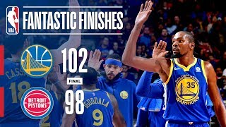Best of the Warriors and Pistons in the Final Minutes | December 8, 2017