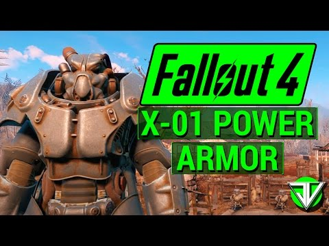 FALLOUT 4: How To Get FULL SET Of X-01 BEST POWER ARMOR In Fallout 4!
