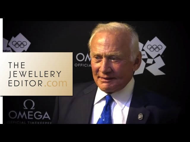 Buzz Aldrin speaks Omega moon watches in London