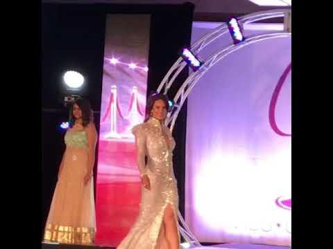 Nuestra querida Michelle Molina defilando miss NJ USA 2018