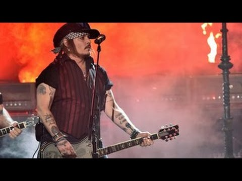2016 Grammy Awards- Johnny Depp And The Hollywood Vampires Rock Out At The 2016 Grammys