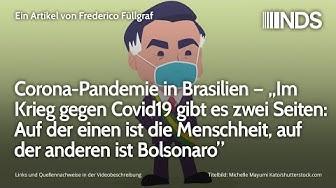 """Brasilien – """"Krieg gegen Covid19 hat zwei Seiten: Auf d einen d Menschheit, auf d anderen Bolsonaro"""""""