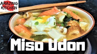 How to make Traditional Japanese Miso Udon Noodle Soup Quick & Simple Recipe #8