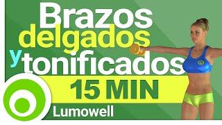 Brazos Delgados y Tonificados en 15 Minutos - Ejercicios con Mancuernas en Casa thumbnail
