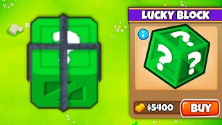 I've NEVER Been This LUCKY?! (Green Lucky Blocks in BTD 6!)