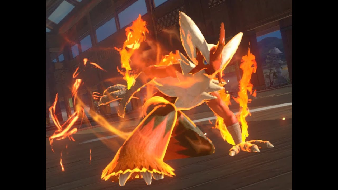 Pokken Tournament BLAZIKEN vs SCEPTILE GAMEPLAY Wii U HD ...
