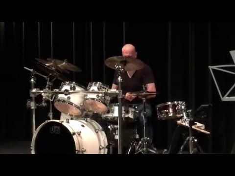 Drums solo live performance - Lionel Vaudano - CLV Project (jazz fusion) - Nice 2016
